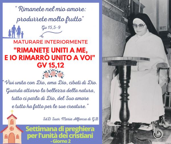 Settimana di preghiera per l'unità dei cristiani - Giorno 2